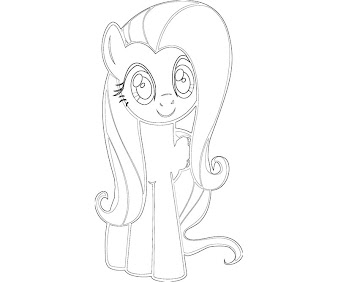 #1 Fluttershy Coloring Page