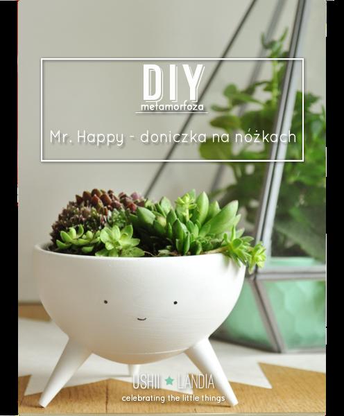 tripod planter_doniczka z buzią na trzech nózkach DIY