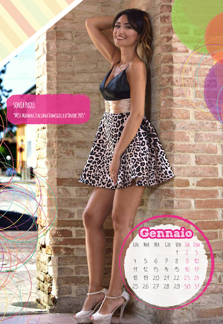 Calendario 2016 - Miss Mamma Italiana - Gennaio