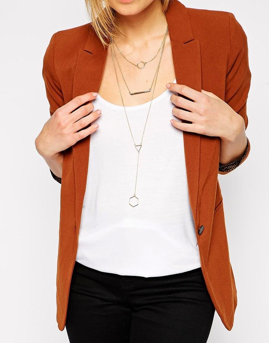 multi row necklace, bar necklace, geometric shape necklace,