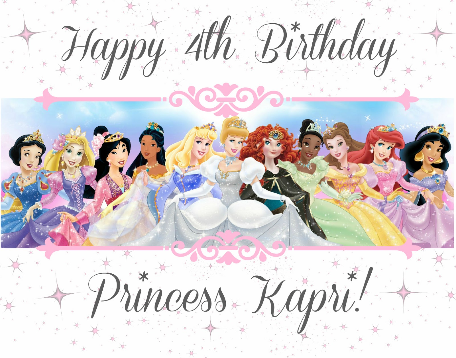 Mejia Mamma Happy 4th Birthday Princess Kapri