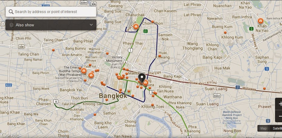 Bai Po Massage Bangkok Map Tourist Attractions in Bangkok – Bangkok Tourist Attractions Map