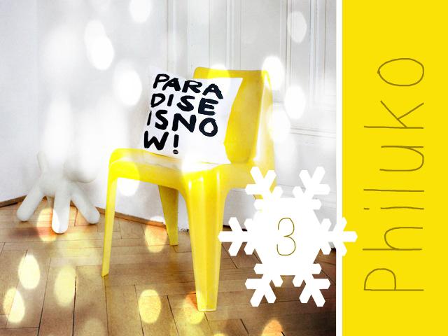 "Adventsverlosung mit Philuko - ""Paradise in now""-Kissen // Bildrechte bei philuko"