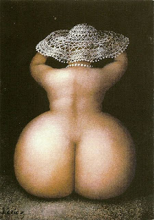 голая девушка с нереально огромной задницей