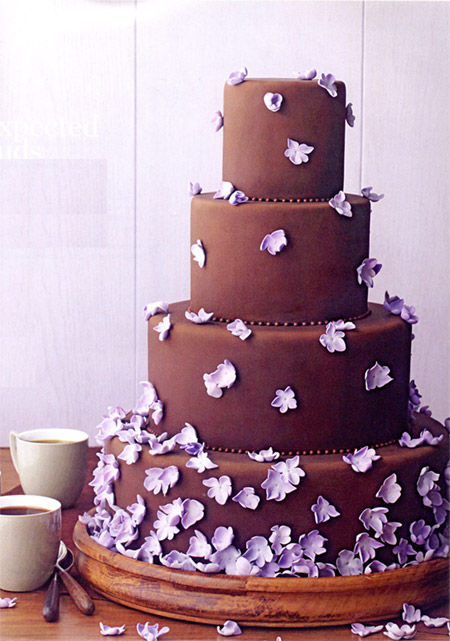 Brown And Purple Wedding Cakes