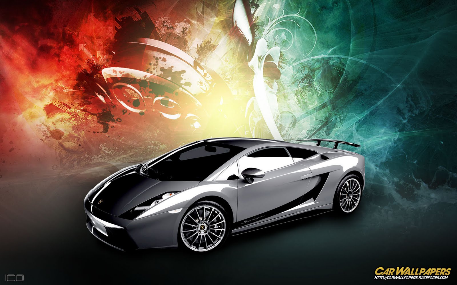 Hot Cars Lamborghini Gallardo Colorful Wallpaper Background