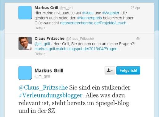 Markus Grill bei Twitter