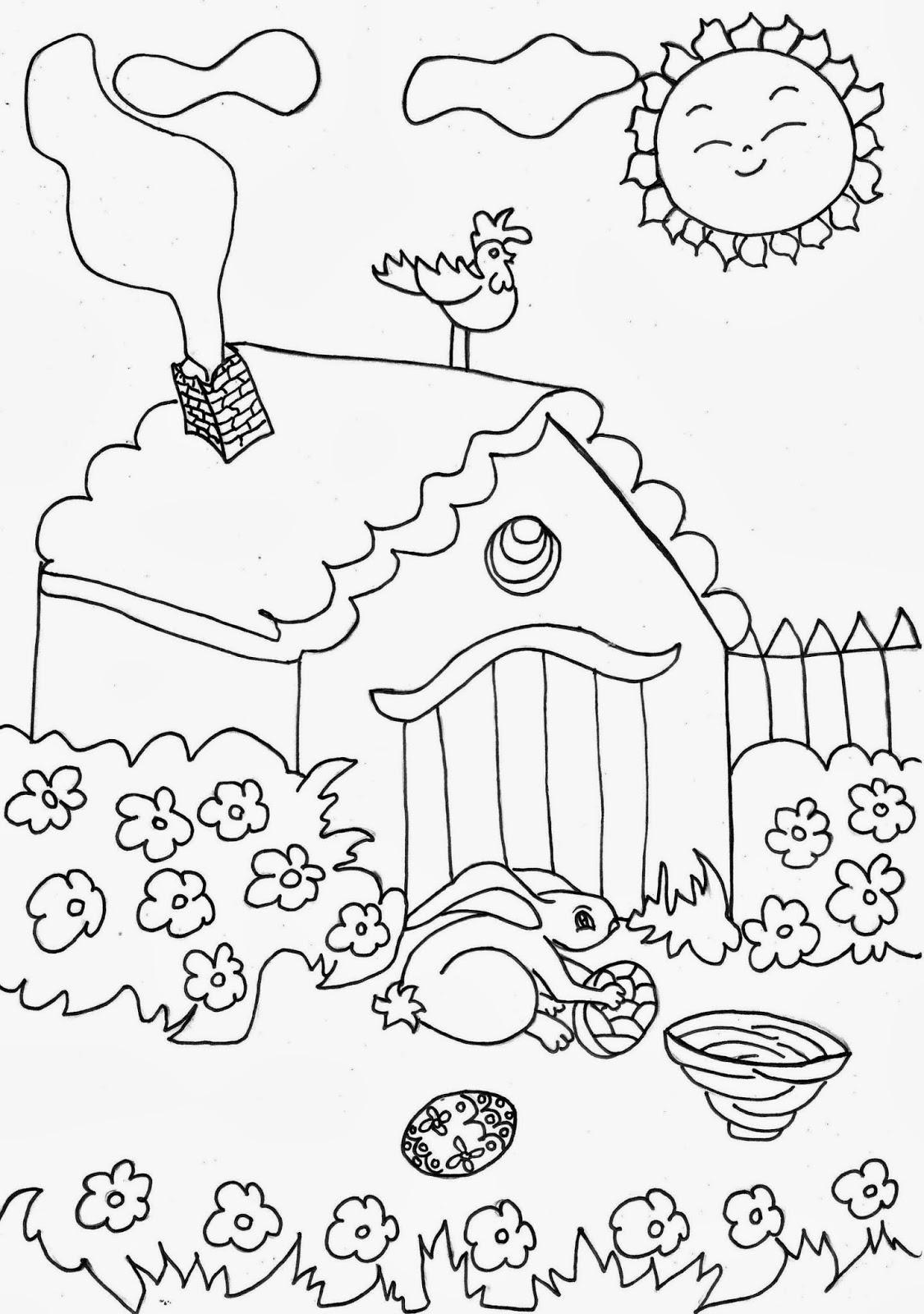 COLOREA TUS DIBUJOS: Dibujo de un Jardín en un día Soleado para ...