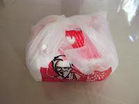 KFC yang dibungkus