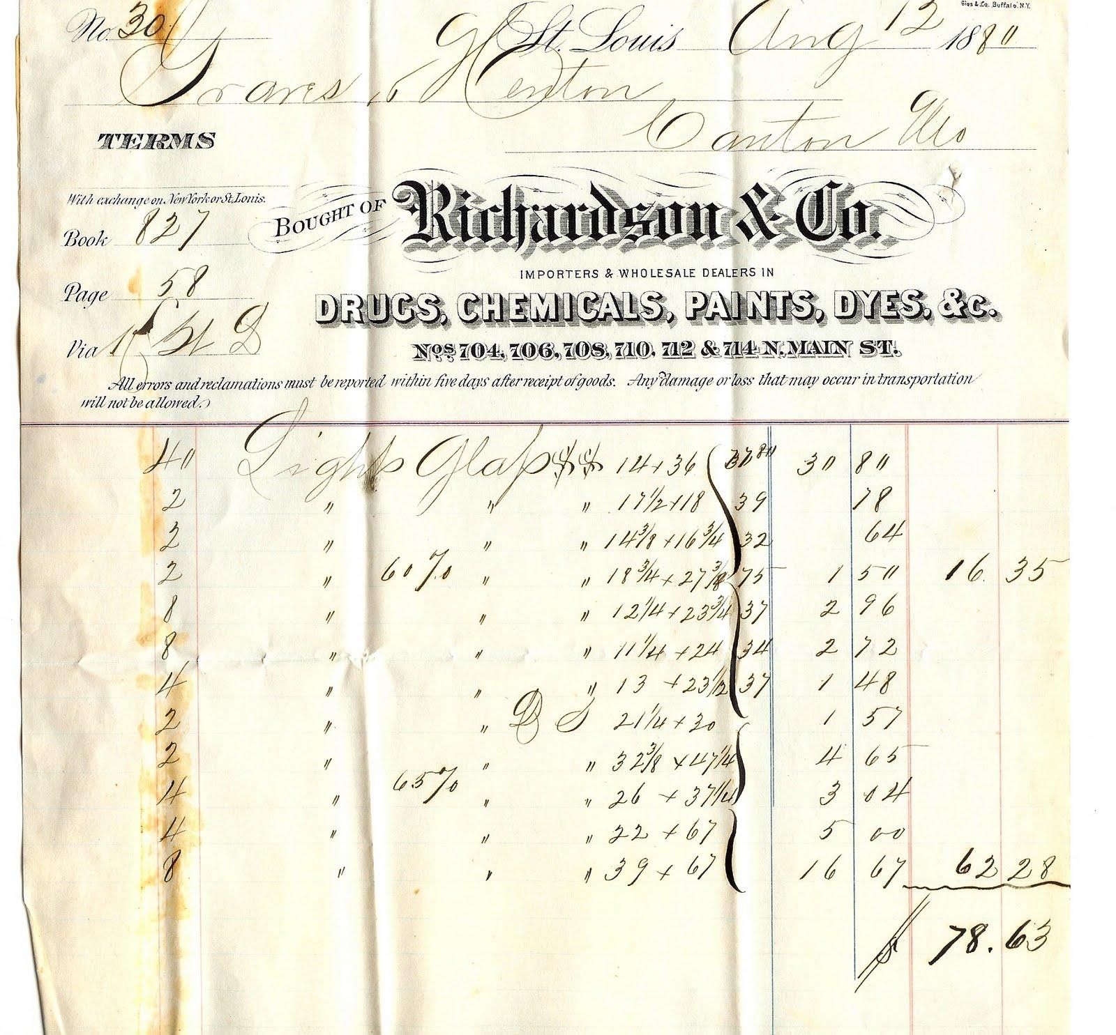 THE EPHEMERA OF BUSINESS: Gies & Co. Buffalo NY Billheads