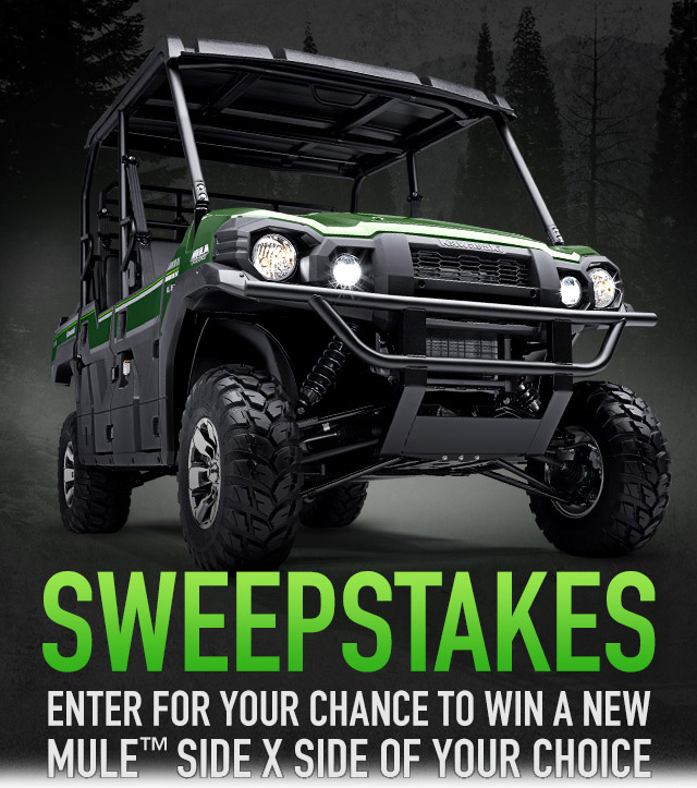 Enter to win a 2015 Kawasaki Mule ATV Giveaway. Ends 3/9/15.