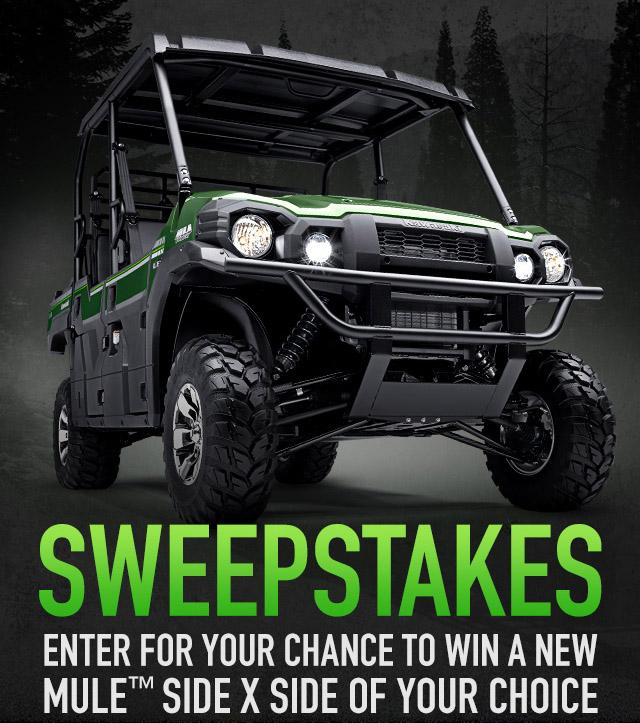 Enter to win a 2015 Kawasaki Mule ATV Giveaway. Ends 3/9/15.
