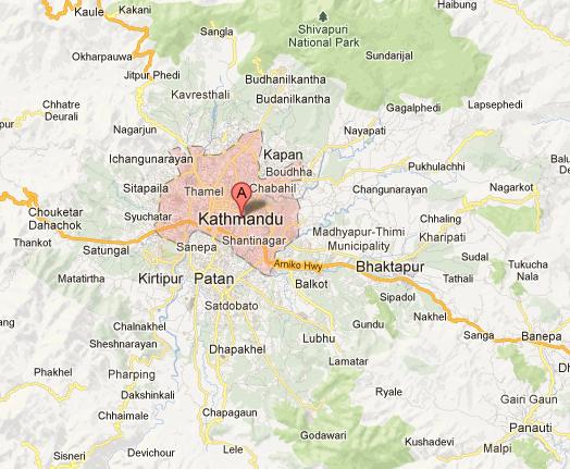 Kathmandu Tourism Maps of Nepal Nepal Maps Map of Cities of Nepal