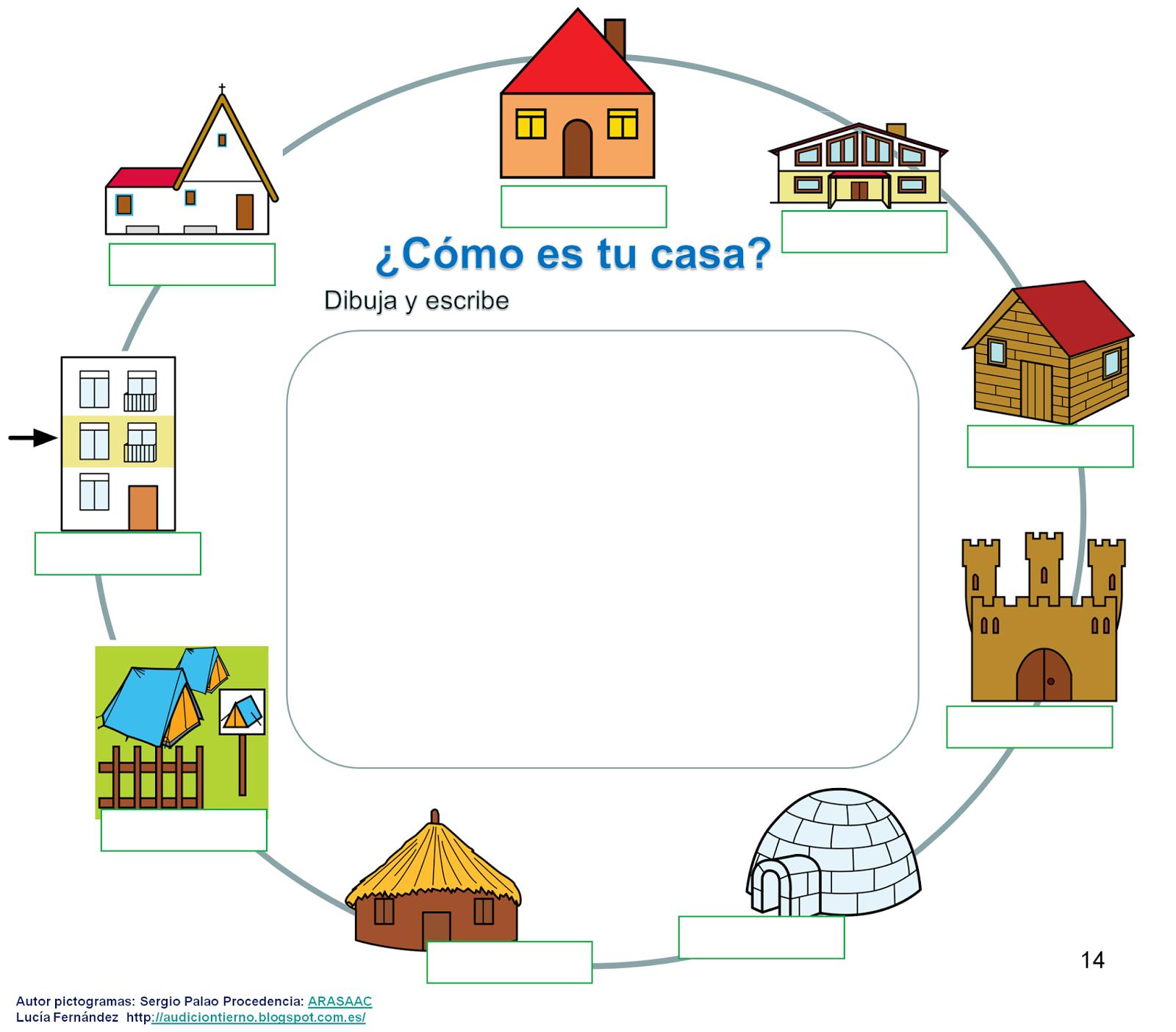 Audici n y lenguaje proyecto donde vivo calle casa for Creador de casas