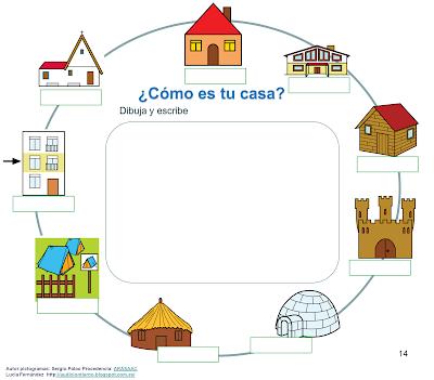 Audici n y lenguaje proyecto donde vivo calle casa for Tipos de techos para viviendas