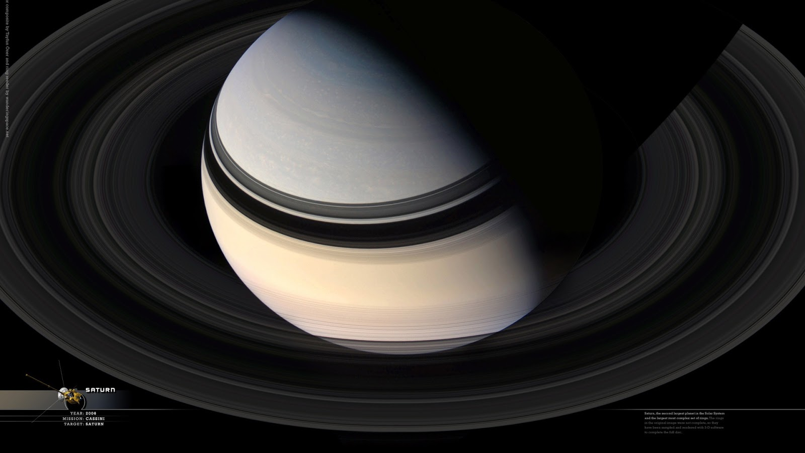 Planet Saturn From Space widescreen wallpaper