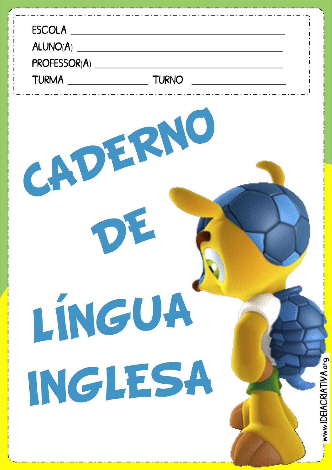 Capas para Caderno Copa do Mundo Fundamental I