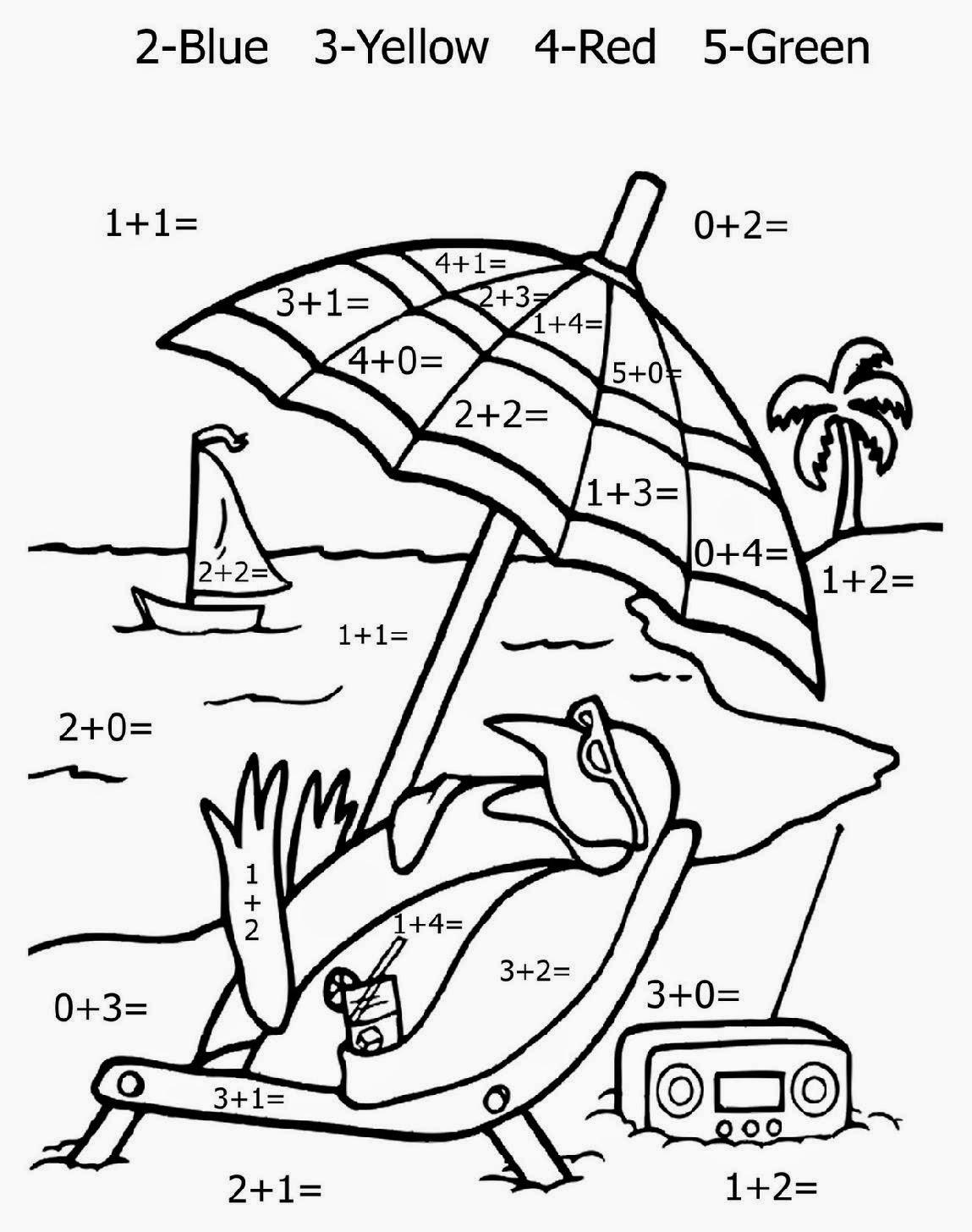 Coloring Math Sheets – Christmas Division Worksheets