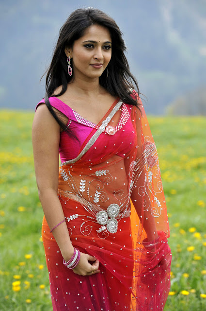Actress Anushka Shetty Saree below navel show photos