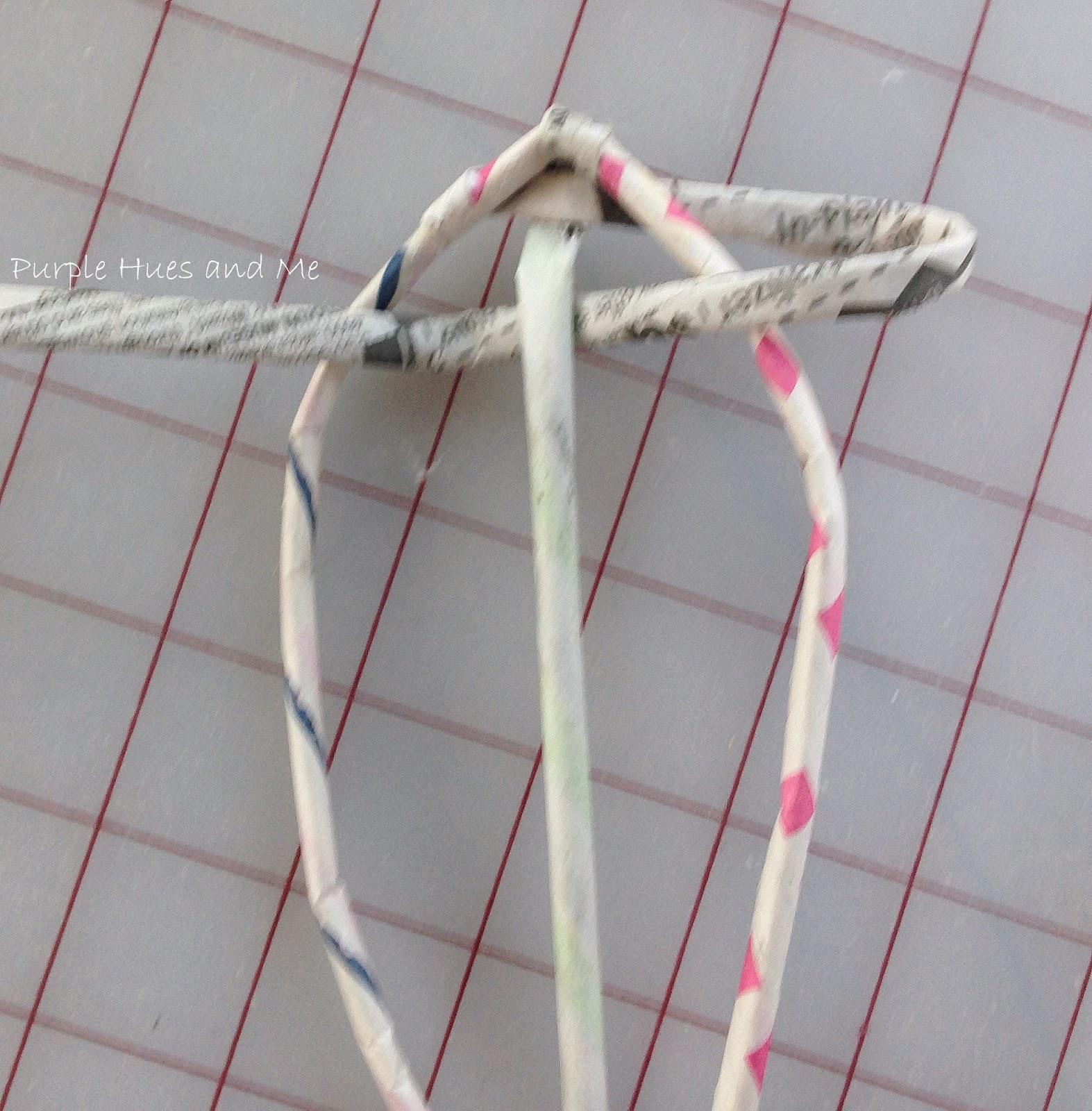 Плетение цветов из газетных трубочек фото
