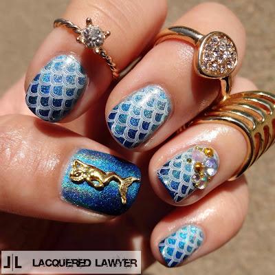 Holo Mermaid Nails