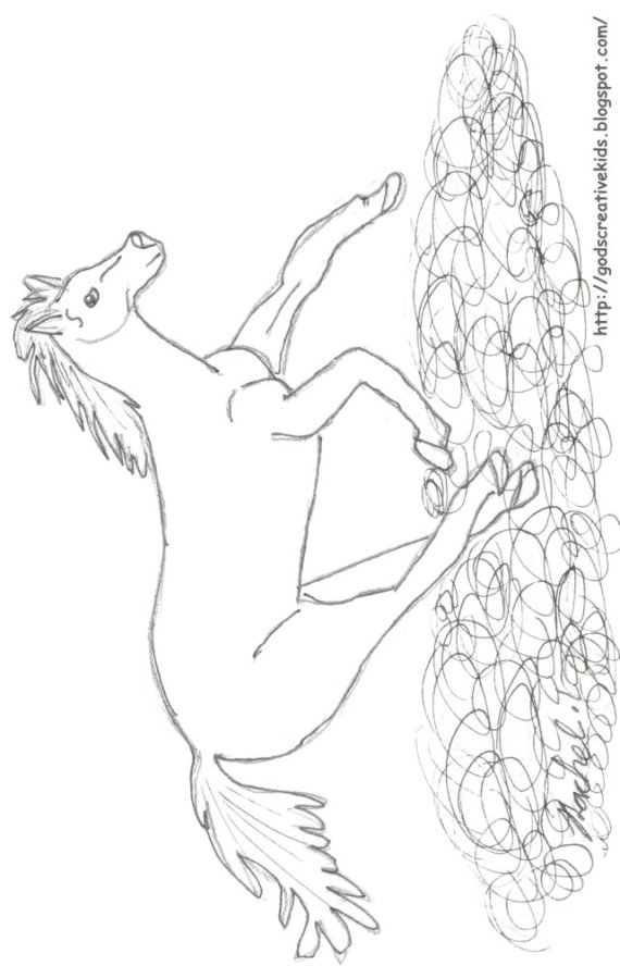 running horses coloring pages - photo#39