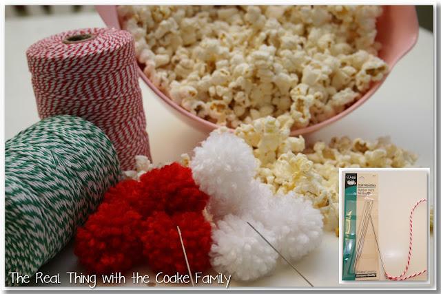 Tree Decorating Ideas: Popcorn and Pom Pom Garland