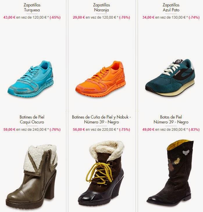 Detalle de algunos modelos de zapatillas y botines de Diesel