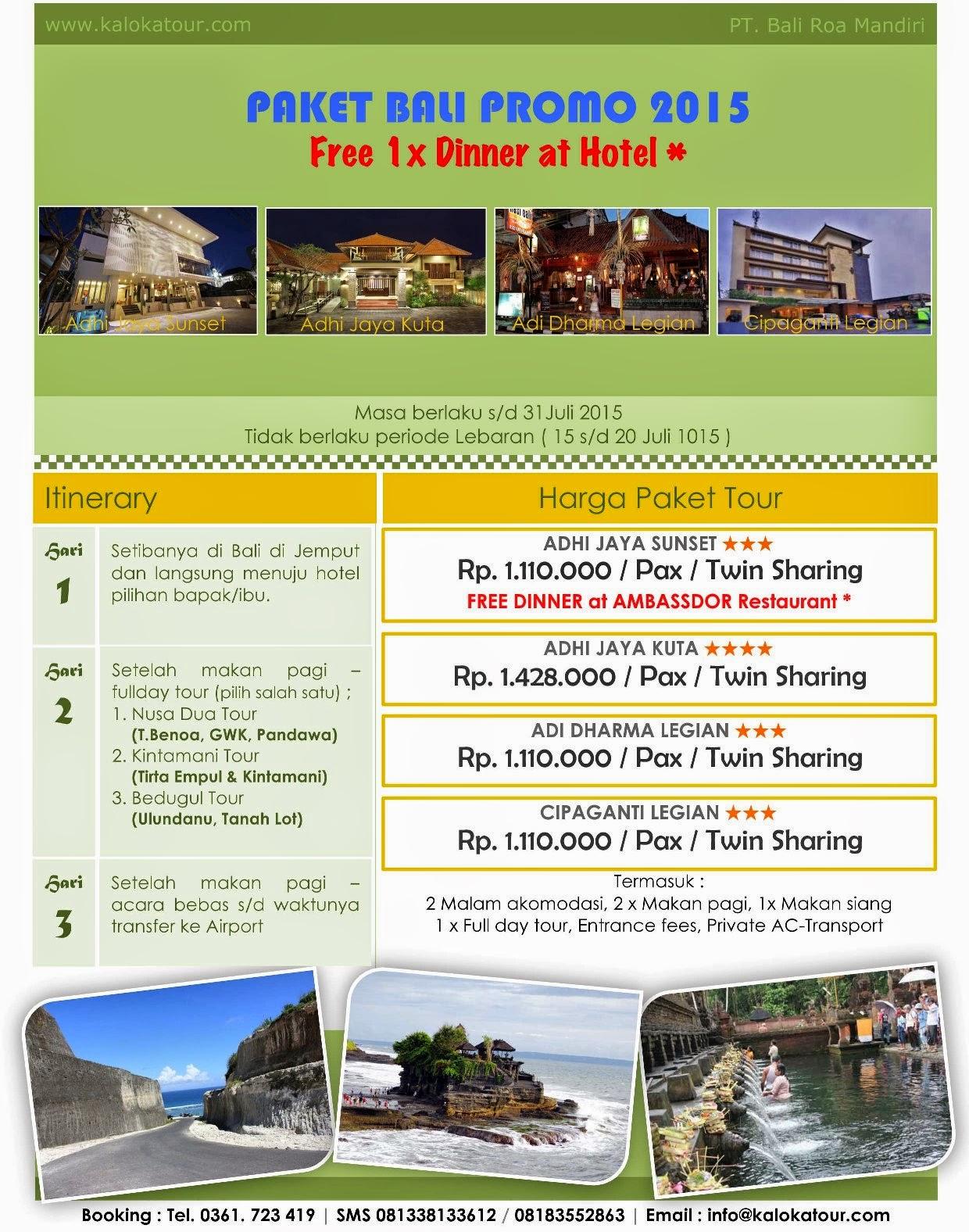 Promo Paket Tour Murah Di Bali