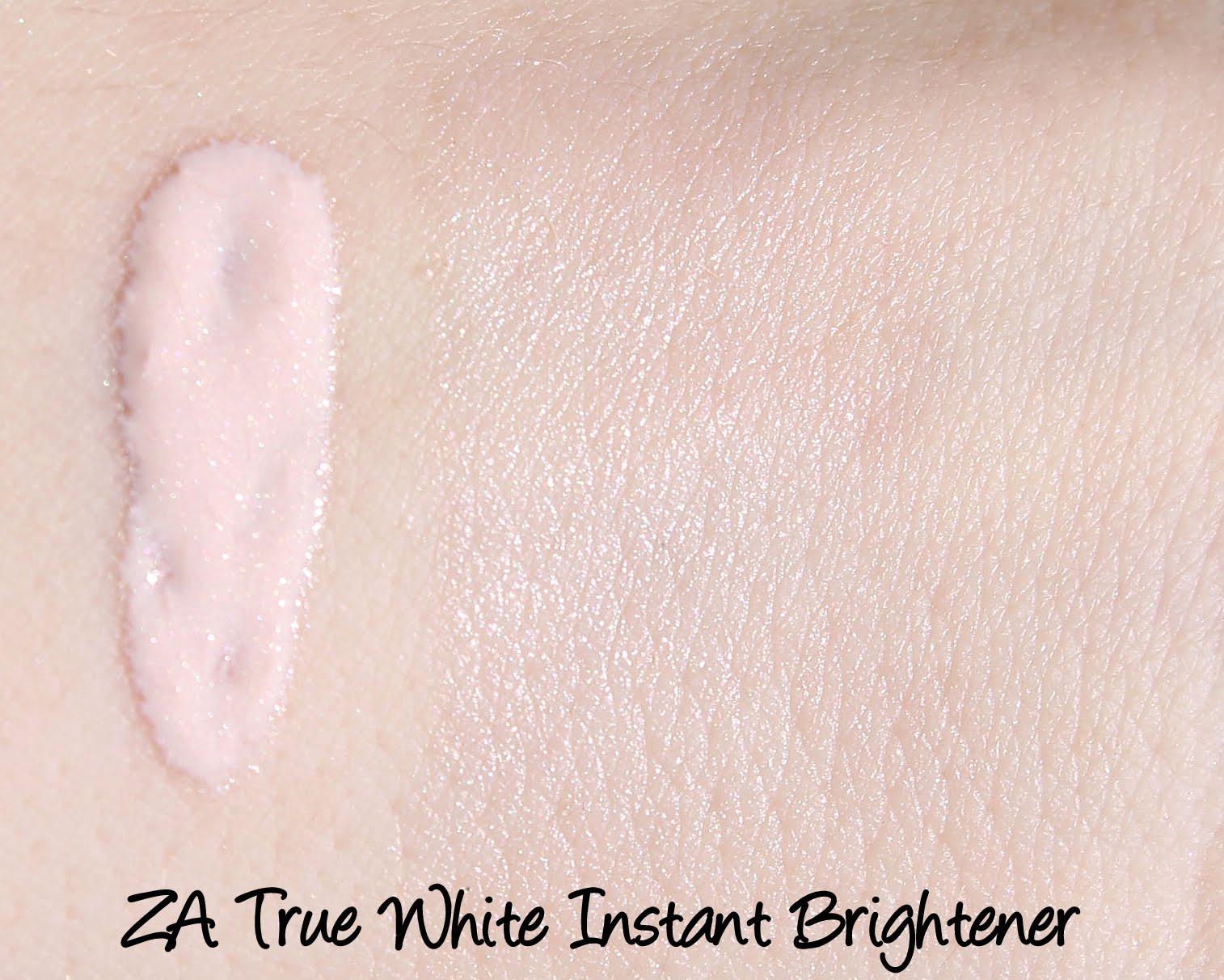 ZA True White Instant Brightener Swatches & Review