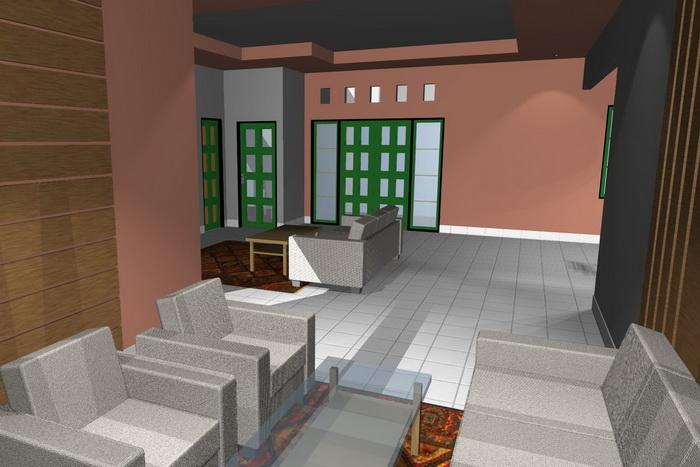 gambar 3. interior rumah minimalis ruang tamu