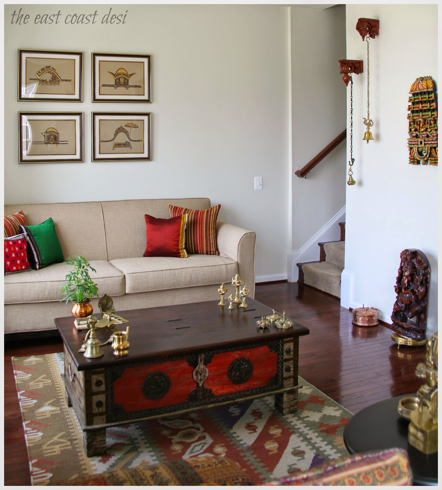 The east coast desi my home a personal repository for Indian ethnic living room designs