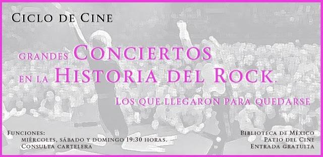 Documentales sobre grandes conciertos en la historia del rock en la Biblioteca de México