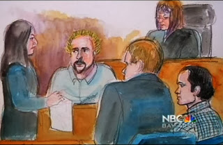 Guy Fieri Courtroom Sketch