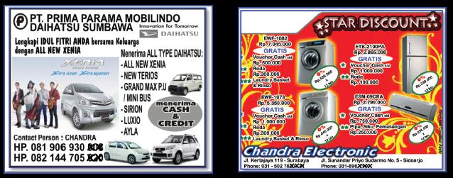 Perhatikan contoh-contoh iklan berikut.