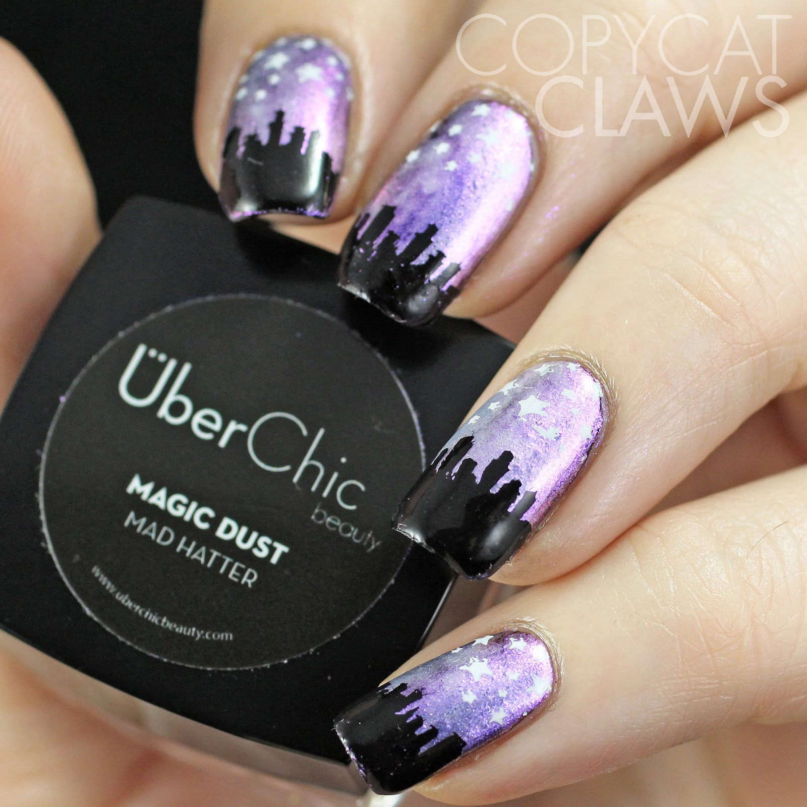 Copycat Claws: UberChic Beauty Magic Dust and Skyline Stamping