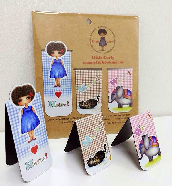 Little Curly magnetic bookmarks Set A