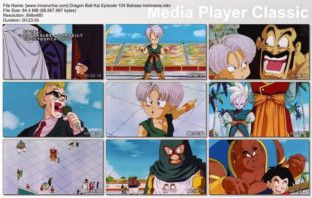 Download Film / Anime Dragon Ball Kai Episode 104 (Masalah Datang! Kemunculan Seorang Peserta Misterius) Bahasa Indonesia
