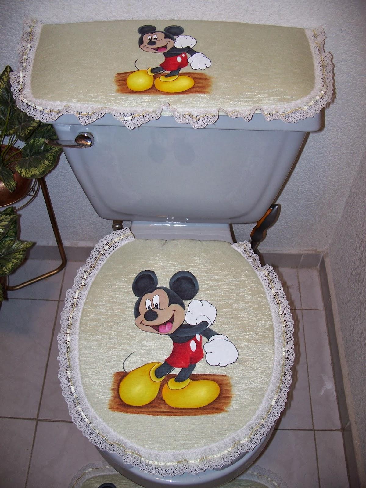 Utilisima Lenceria Juegos De Baño: las flores con pinceladas de colores: Juego de baño de Mickey Mouse
