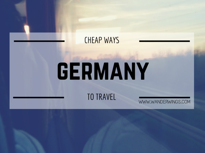 Cheap ways to travel in Germany