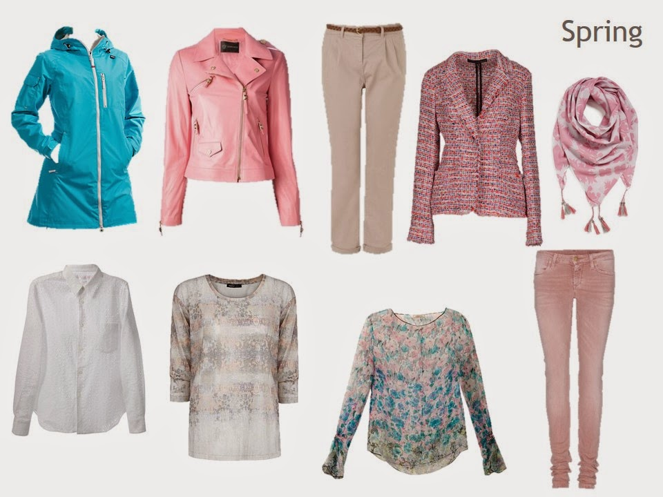 "9-piece spring capsule wardrobe from ""Ma To-Do List: Dressing"""