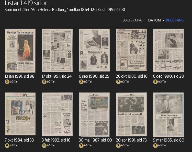 1 419 sidor med Ann Helena Rudberg