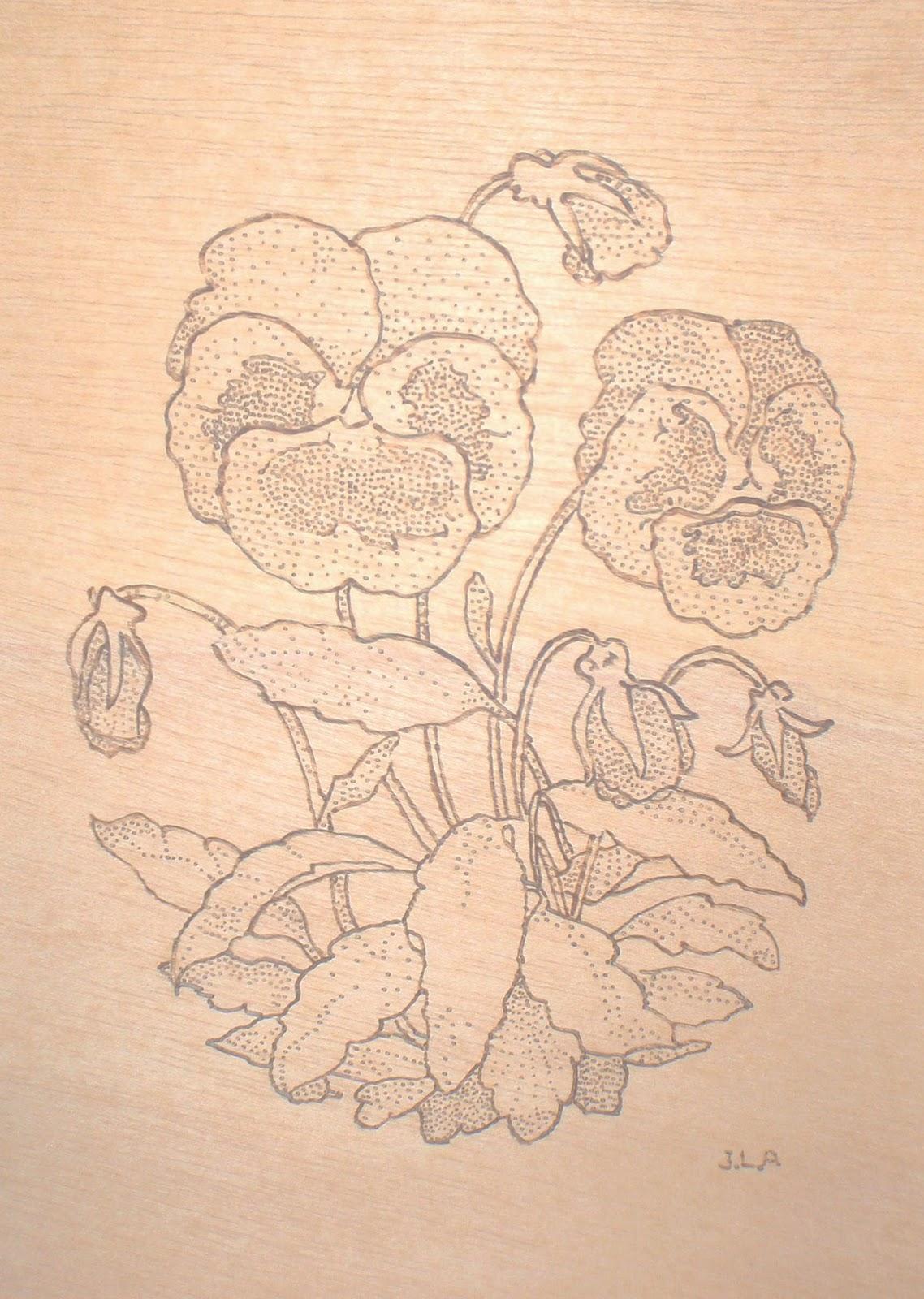 Mis trabajos en madera: Cuadros con Técnica de Pirograbación