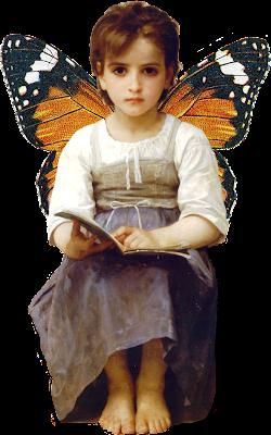 niña vintage de Bouguereau
