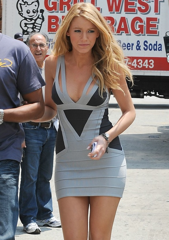 Blake Lively Bandage Dress