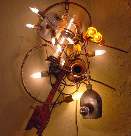 The Art Of Up Cycling Diy Lamp Shades Made From Junk
