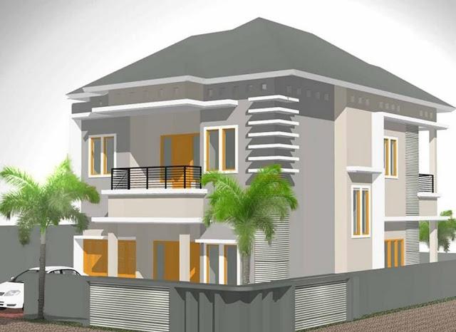 rumah minimalis modern tingkat 2