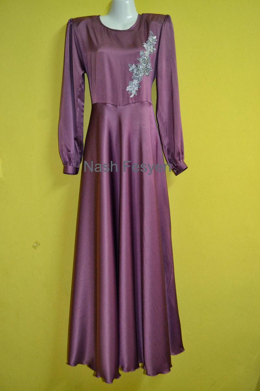 Dress/Jubah Dengan Butang Di Hadapan
