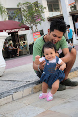 My husband and my lovely daughter