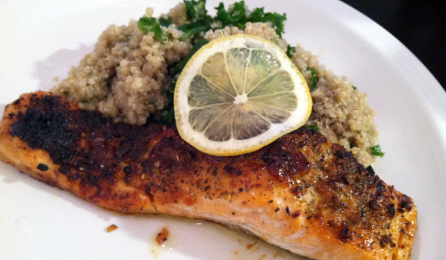 Miso Glazed Salmon with a Quinoa Avocado Kale salad - perfect meal for ...